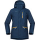 Bergans Youth Alme Insulated Jacket Dark Steel Blue/Steel Blue/Yellow Green